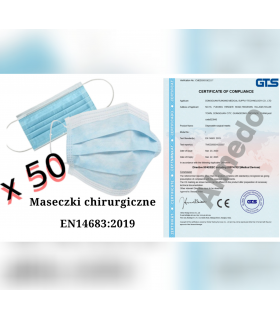 Maseczki chirurgiczne (50 szt.) - EN14683:2019